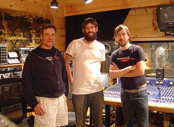 Producer Lou Giordano, Drummer Steven Curtiss and Fred Mascherino